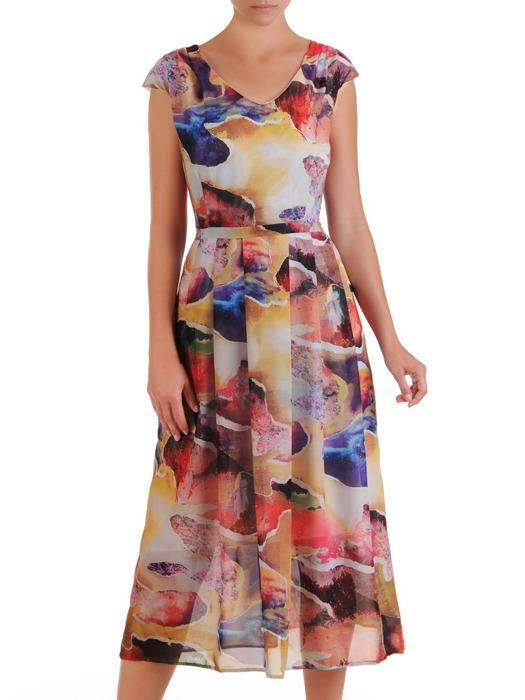 10df4646e66ce0 Sukienka z szyfonu, zwiewna kreacja w długości midi 21511. | Sklep ...