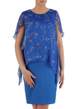 0694e09659 Chabrowa sukienka w fasonie maskującym brzuch 20891.