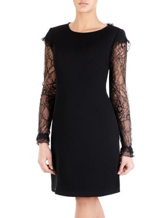 409310c839 Czarna sukienka z romantycznymi rękawami 14157