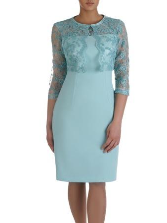 ac873d6f5c Miętowa sukienka z krótkim