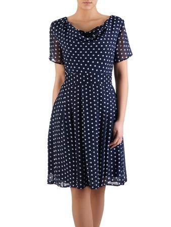 4f7972ecfd Rozkloszowana sukienka szyfonowa Karla I