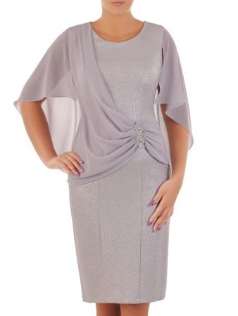 a04dbf47c69fa6 Sukienka na wesele, elegancka kreacja w fasonie maskującym brzuch 21709.