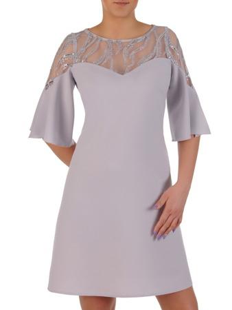 70560763dc Sukienka z koronkowym karczkiem