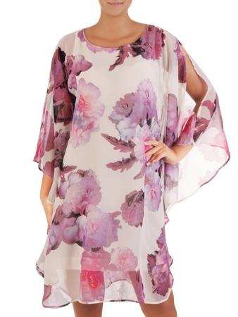 cc4eca72e6e104 Sukienka z szyfonu, nowoczesna kreacja w fasonie maskującym brzuch 21727.