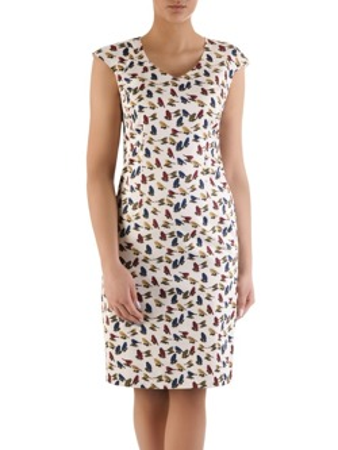 78aa06f70f5cfe Wiosenna sukienka Milada I, kreacja wyjściowa z motywem zwierzęcym.