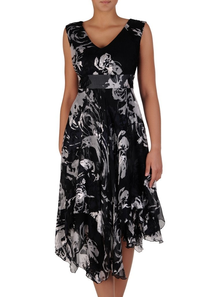 25636bc892 Asymetryczna sukienka z szyfonu 17203