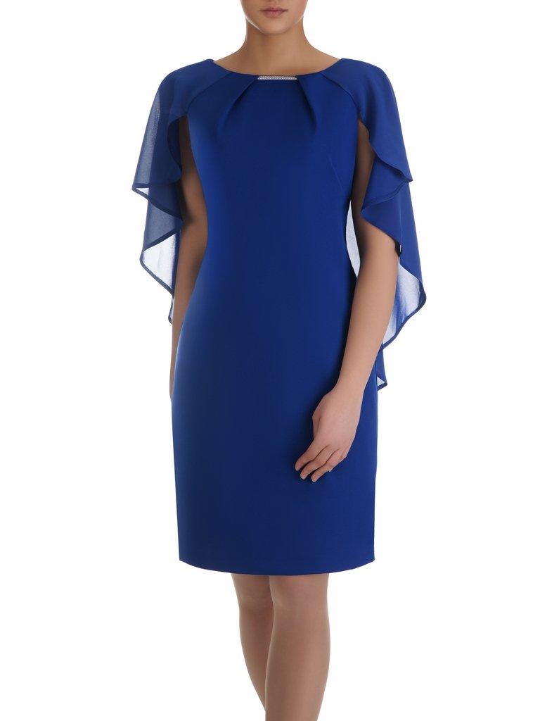 88281c20 Chabrowa sukienka Silwana I, elegancka kreacja na wesele.