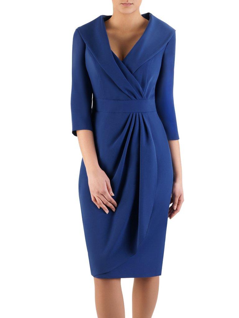 0d70697247 Chabrowa sukienka w wyszczuplającym fasonie Bonita I