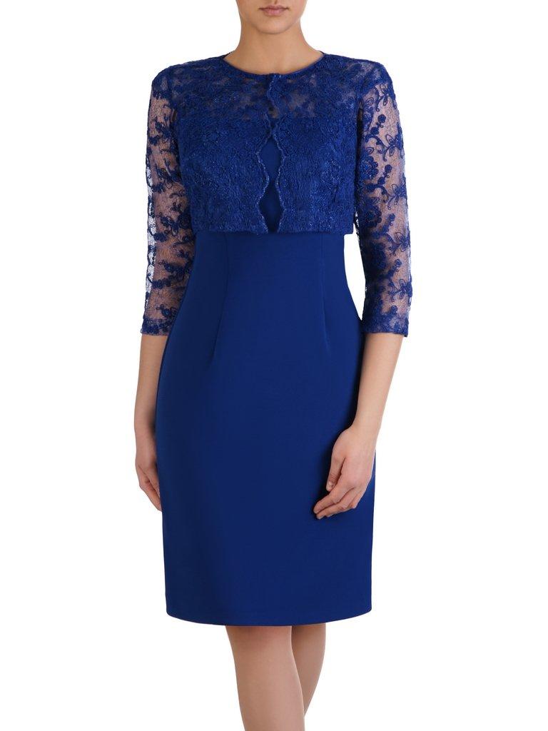 c0809dee2e Chabrowa sukienka z krótkim