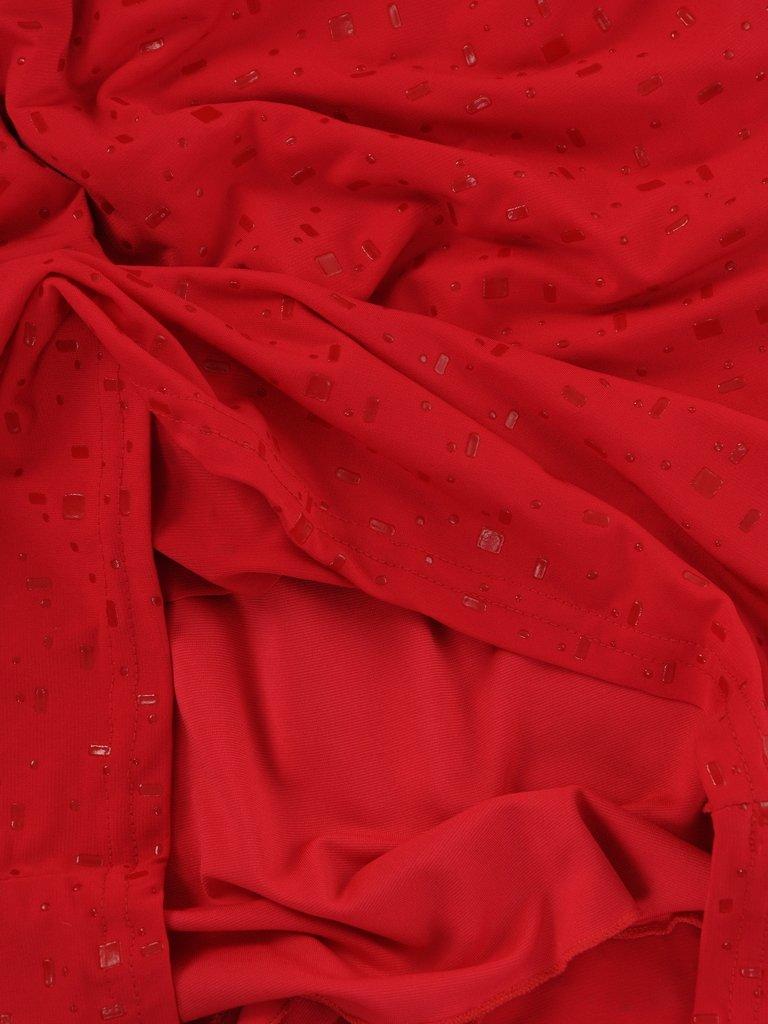 dfeda2db18aea4 ... Czerwona sukienka Lara I, kreacja wizytowa z połyskującej dzianiny.  Kliknij, aby powiększyć