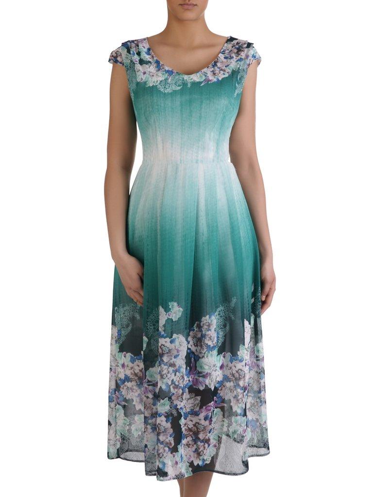 13aaf088f5 Długa sukienka z eleganckiego szyfonu 15582