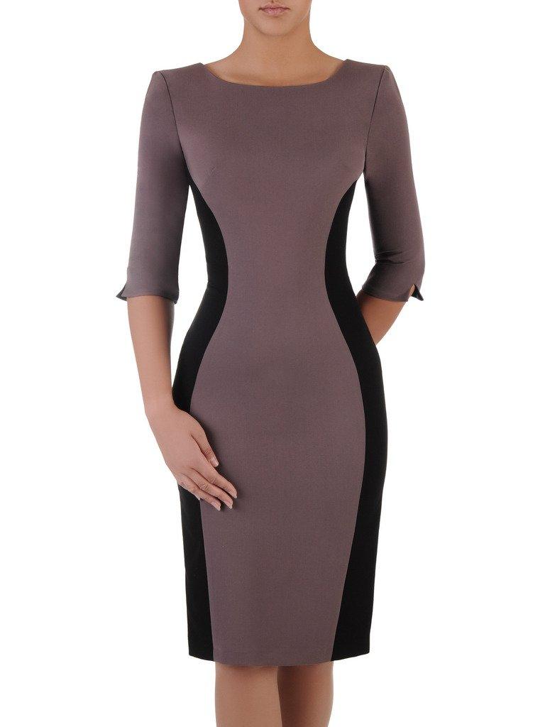 7a271f761f Dwukolorowa sukienka wyszczuplająca Aurora I