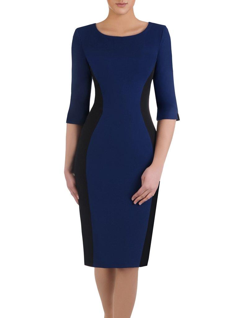 5263b5c95 Kliknij, aby powiększyć; Dwukolorowa sukienka wyszczuplająca Aurora III,  modna kreacja ...