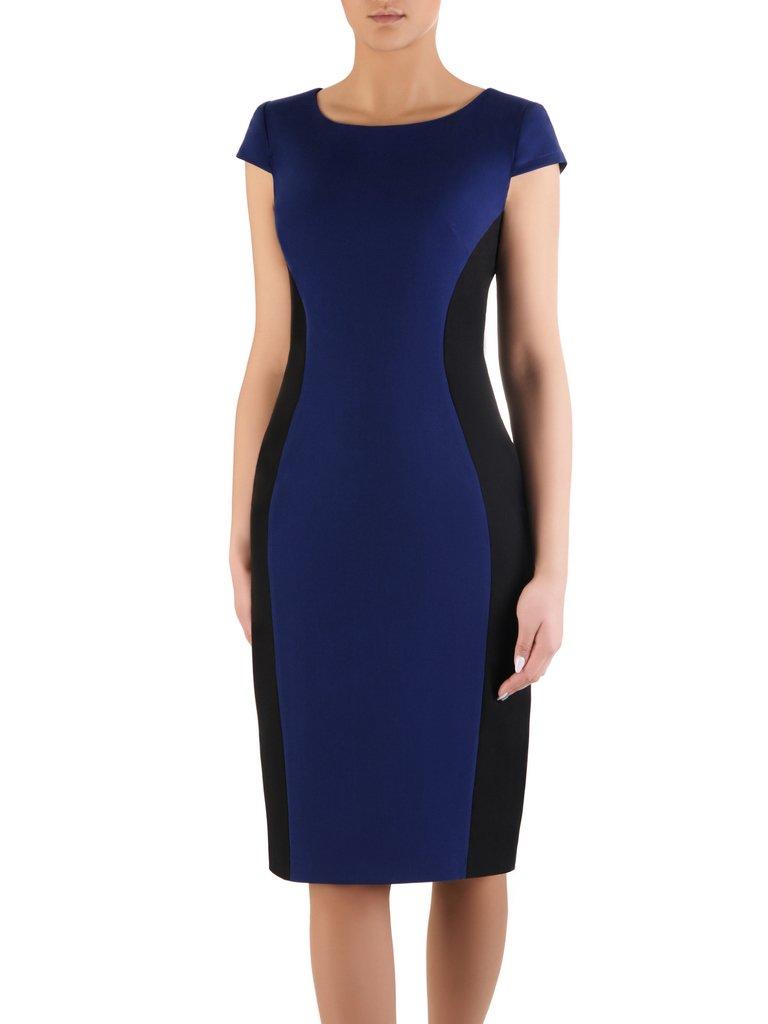 67f01f57e27b4 Dwukolorowa sukienka wyszczuplająca Aurora IX, modna kreacja ...