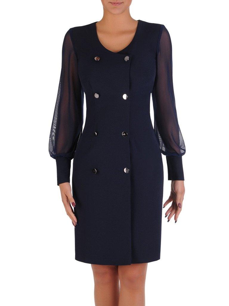9fbcd400d3 Dwurzędowa sukienka z tiulowymi rękawami 17882.