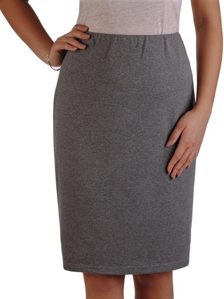 Dzianinowa spódnica z ozdobną gumą 14369. | Sklep online