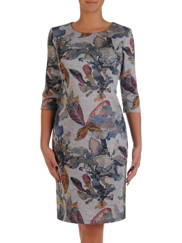 6f081e2f11 Dzianinowa sukienka w stonowanych kolorach 18197