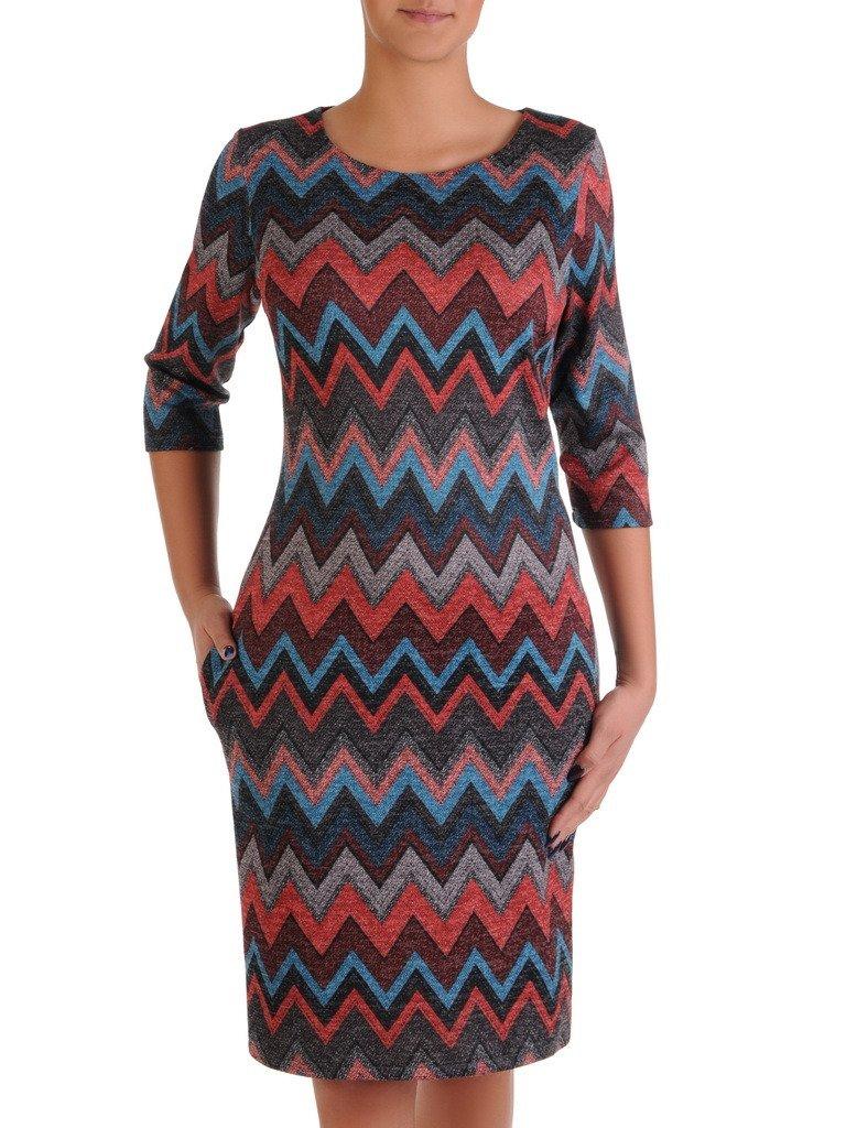 80ae775287 Dzianinowa sukienka w stonowanych kolorach 18201