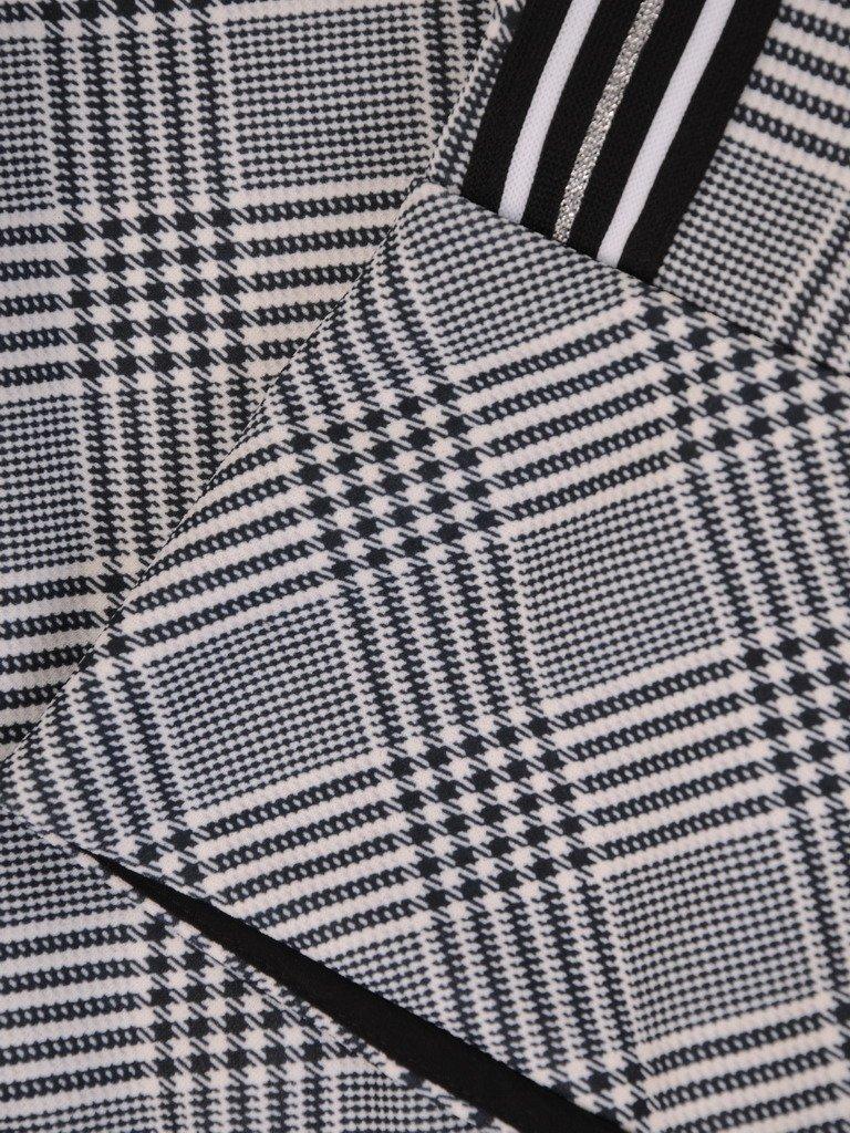 de6b1203e2 Elegancka sukienka w czarno-białą kratkę 17691
