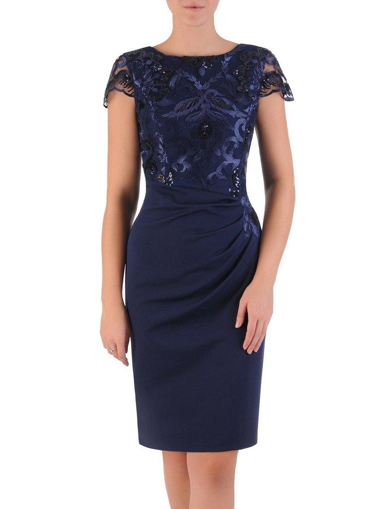e12443456e Elegancka sukienka wykończona ozdobnymi cekinami 17499. Kliknij