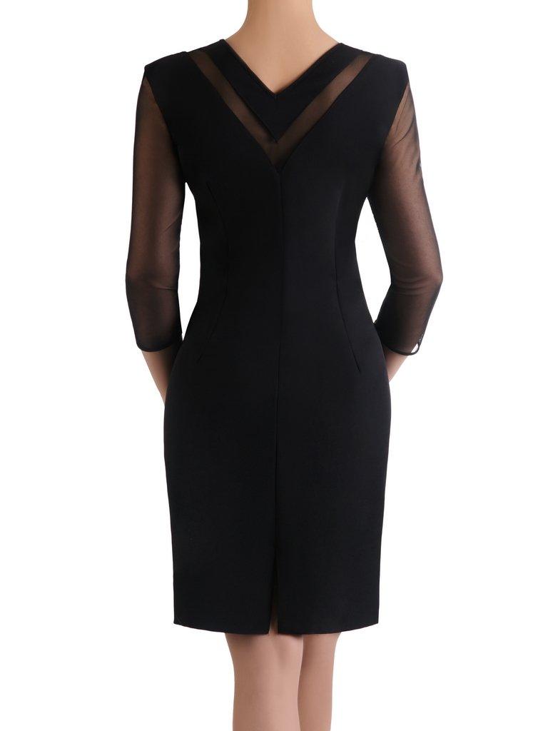 61140ae2ab8f Elegancka sukienka z ażurowymi wstawkami 15607