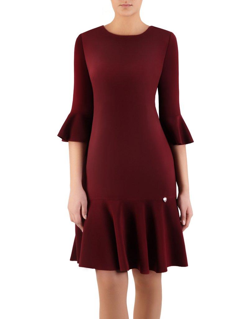 276990a2c0 Elegancka sukienka z falbanami 14445