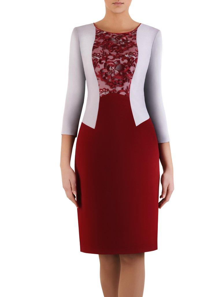 c3e6cbd2f8 Elegancka sukienka z imitacją żakietu Zoika II