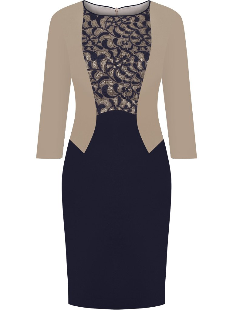 e8f8944617 Elegancka sukienka z imitacją żakietu Zoika