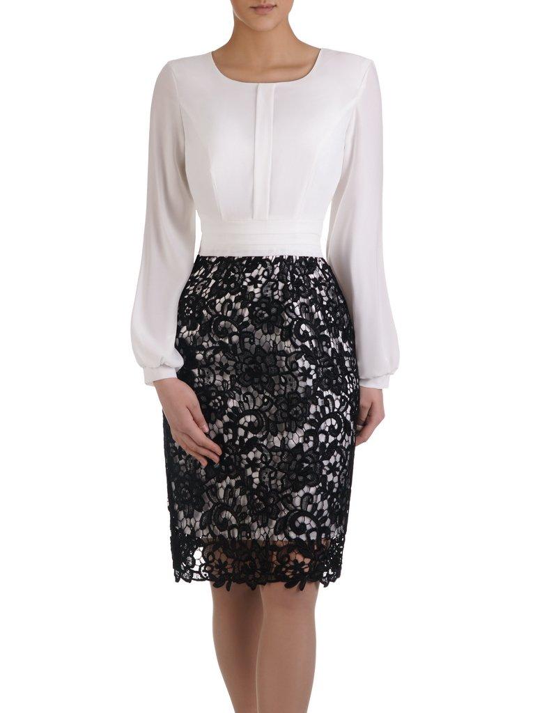 3f0bbeccfc Elegancka sukienka z koronki i szyfonu 14920