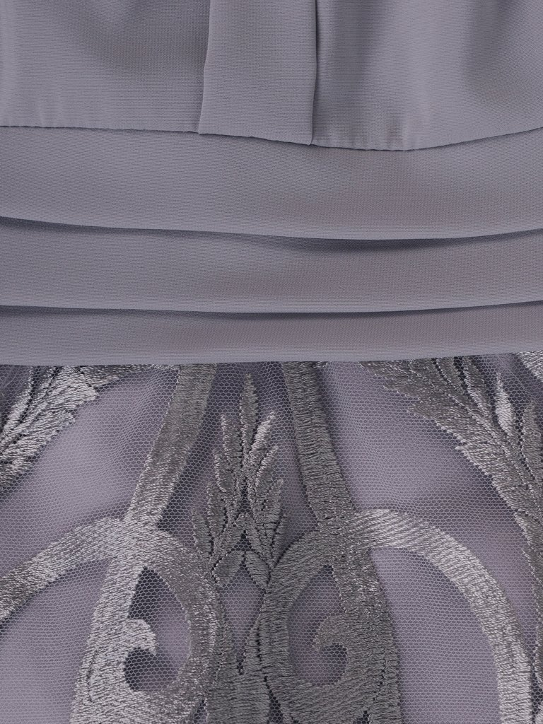 37fb99d801 Elegancka sukienka z koronki i szyfonu 15045