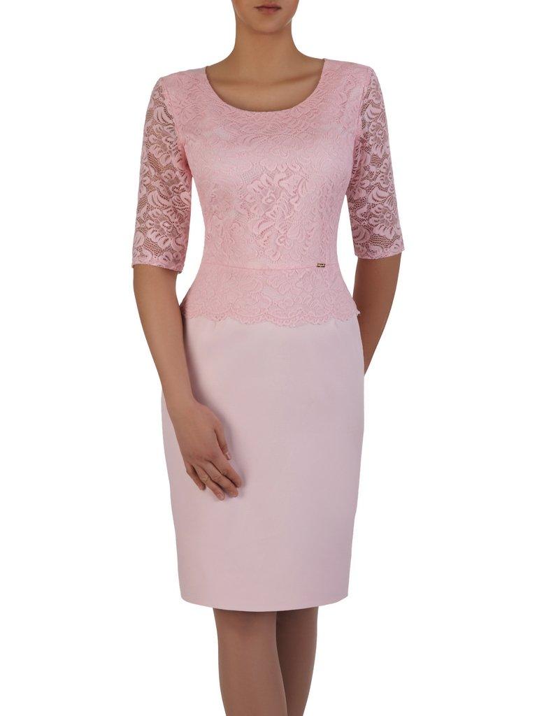 04d0317121 Elegancka sukienka z koronkową baskinką Ajsza VI.