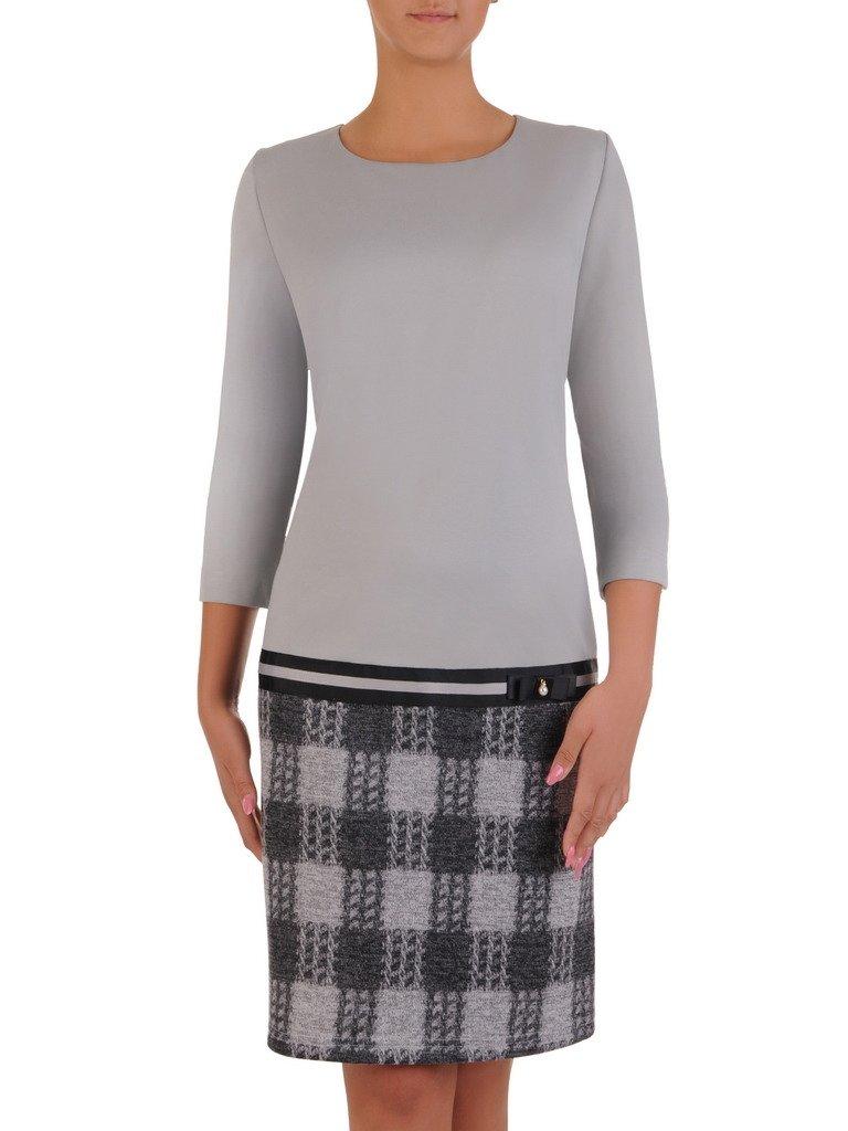 9d616229b3 Elegancka sukienka z łączonych tkanin 17688