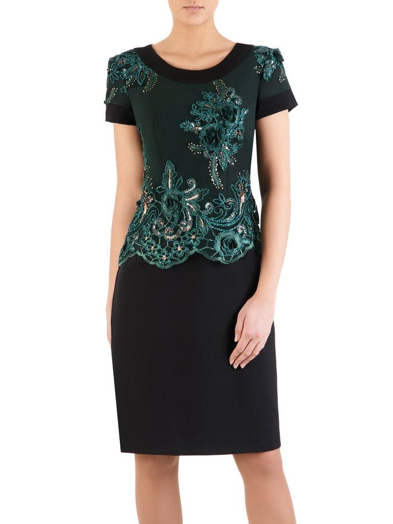 f548d3e1f4 Elegancka sukienka z ozdobnej koronki 14553