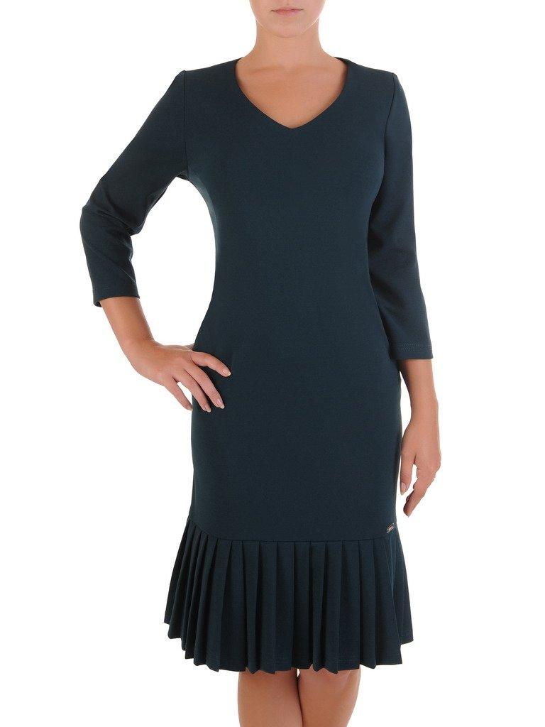 4591ddda0e Elegancka sukienka z ozdobnymi pliskami 17648.