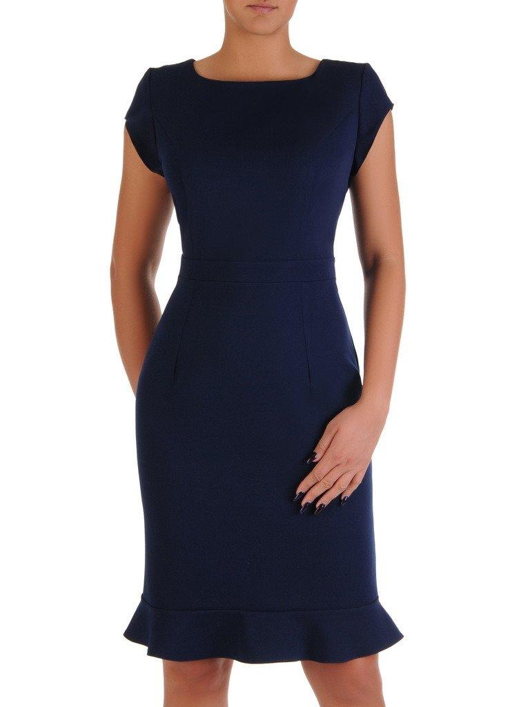 8c10de8d9f Elegancka sukienka z wąską falbaną 18172