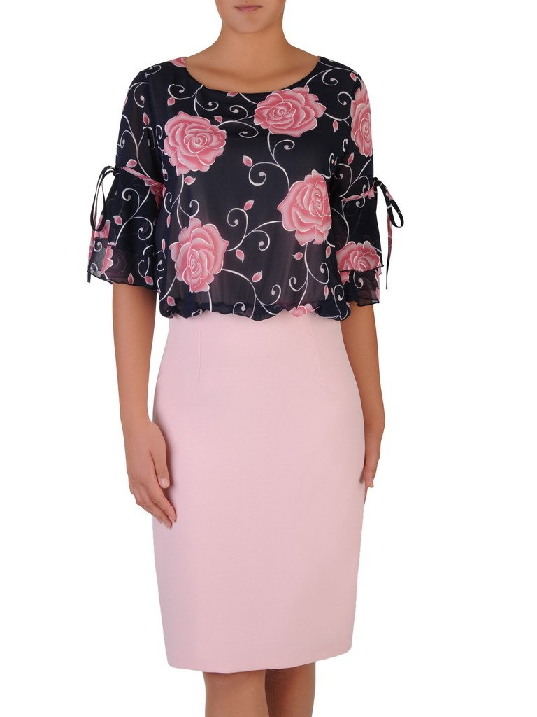 d6d75f44c4 Elegancka sukienka z wzorzystym