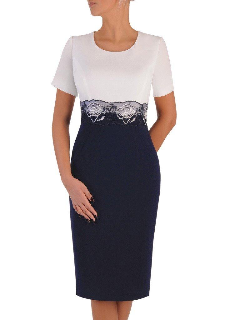 0014928aee ... Elegancka sukienka z wzorzystym żakietem 18276. Kliknij