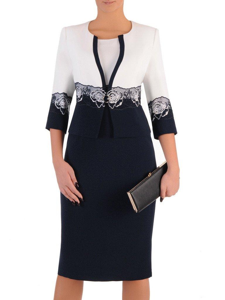 ac132cead6 Elegancka sukienka z wzorzystym żakietem 18276. Kliknij