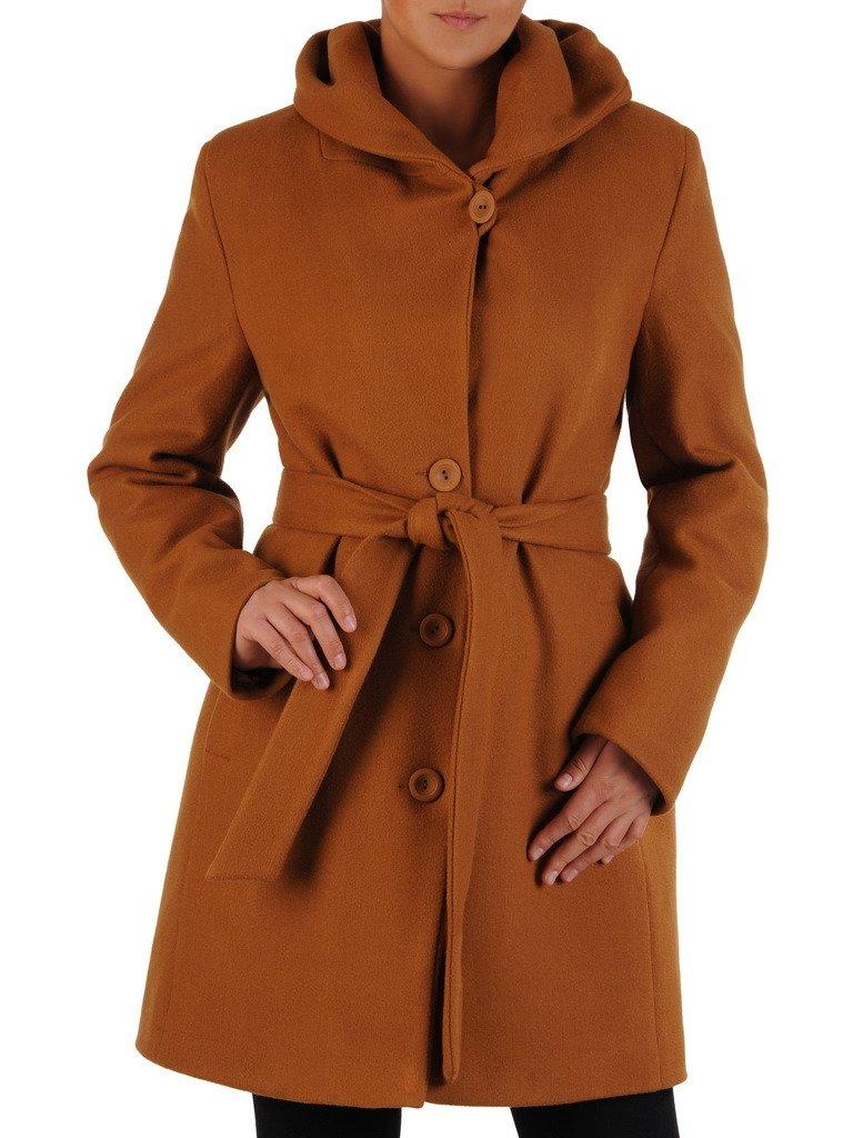 Jesienny płaszcz z szerokim paskiem 22327