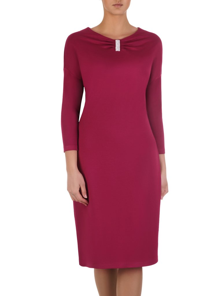 4cbe4c9014 Klasyczna sukienka z marszczonym dekoltem 14259