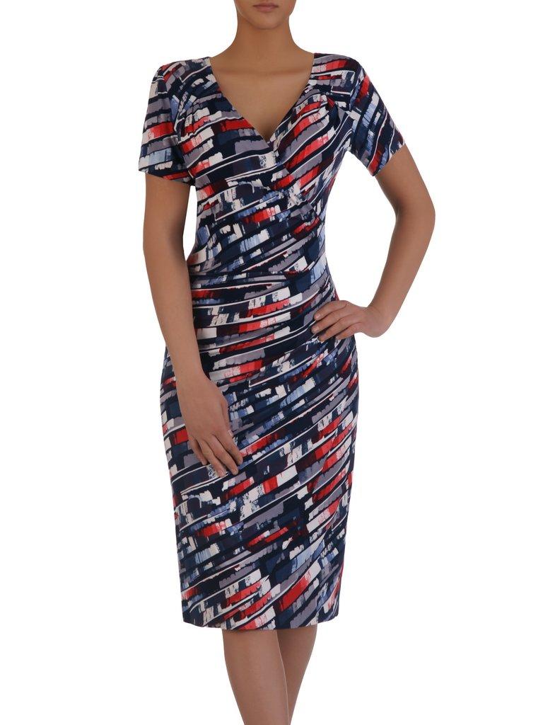 fb0ff7debe Kopertowa sukienka w modny wzór 15864