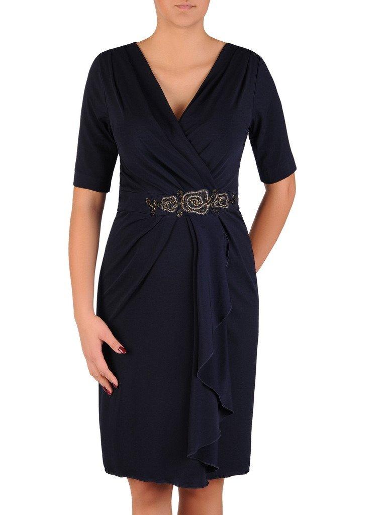 dccf087730 Kopertowa sukienka z asymetrycznym marszczeniem 18530. Kliknij
