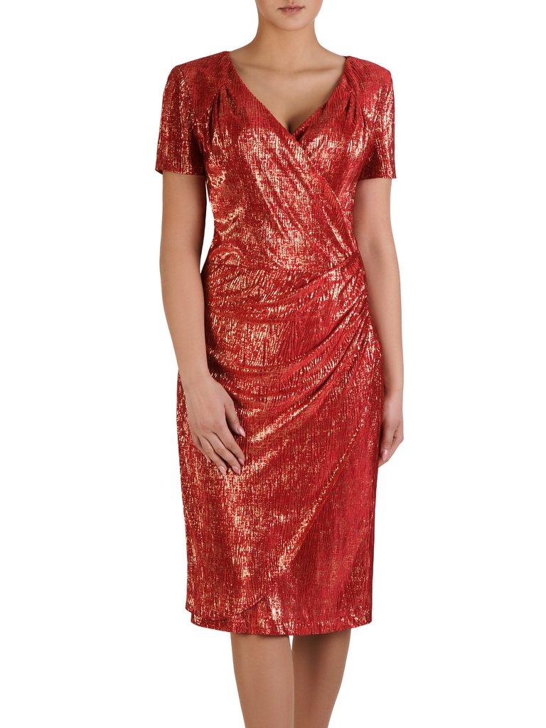 c45d32e865 Kopertowa sukienka z marszczeniami Adolfina II