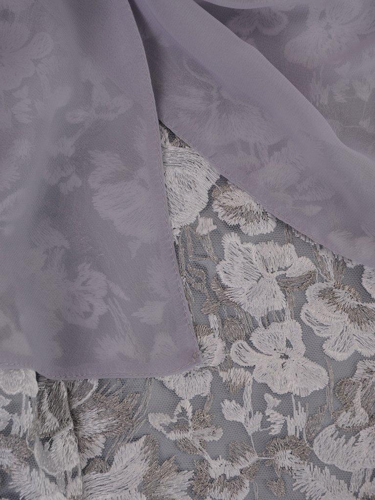 97bd8b2e553717 Kliknij, aby powiększyć; Koronkowa sukienka z szyfonowym szalem 14902,  pastelowa kreacja ...