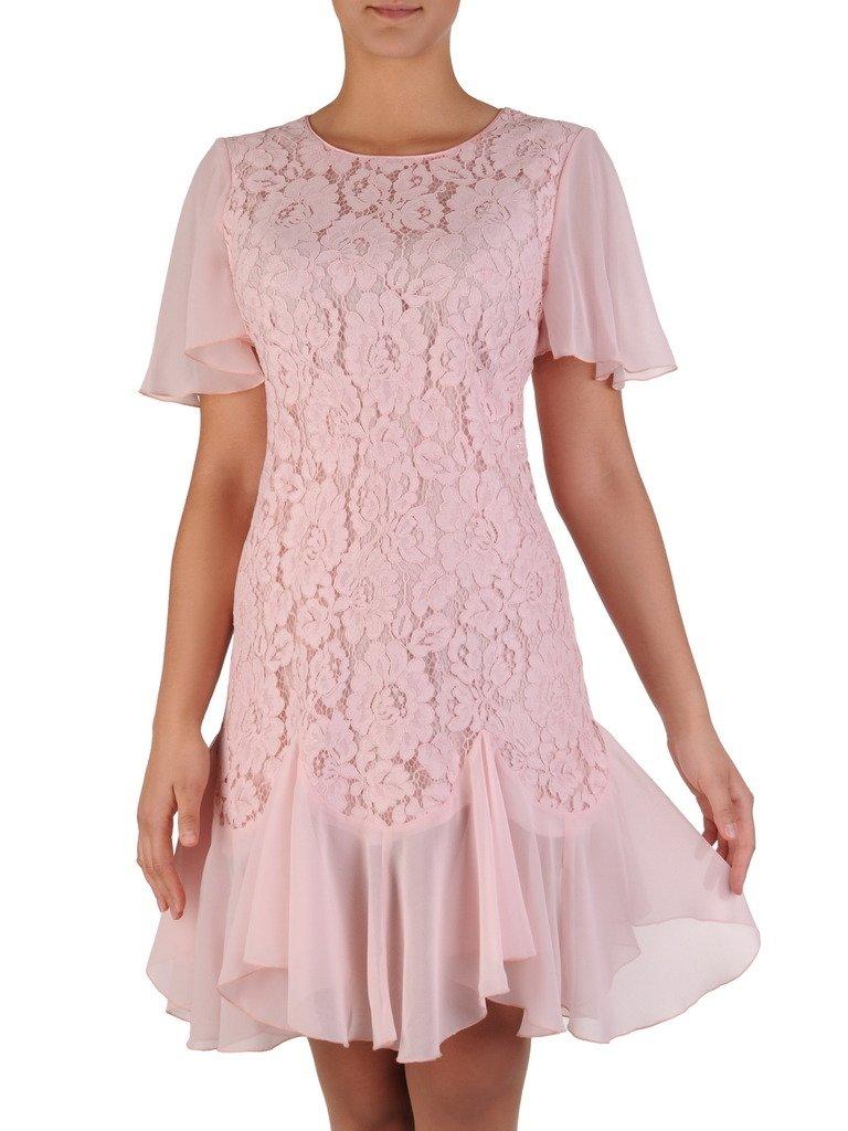 e868947ccf Koronkowa sukienka z szyfonowymi falbanami 17199