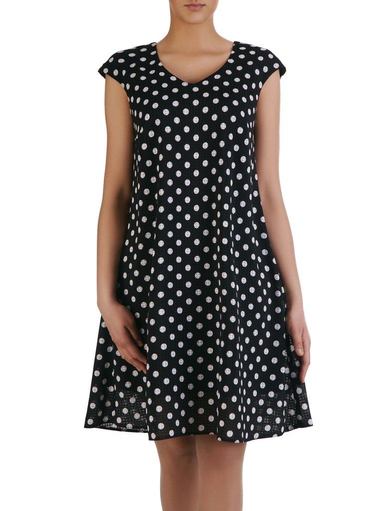 597748a69d Luźna sukienka w grochy 15441