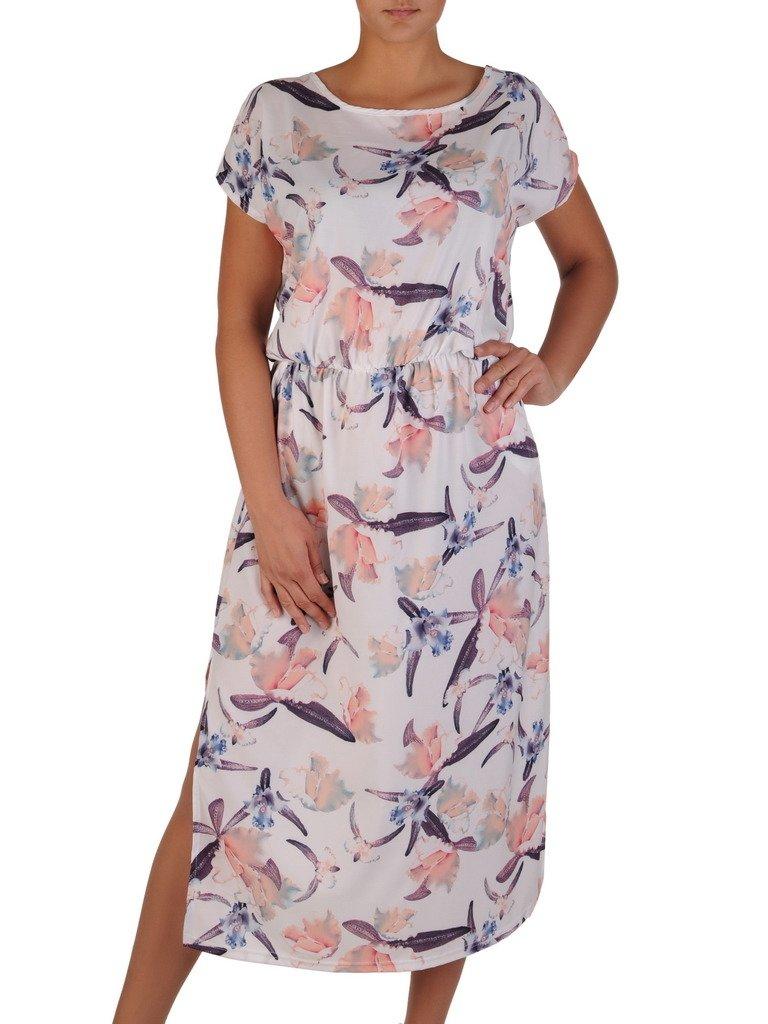 d124c702 Luźna sukienka z gumką w talii 17190, modna kreacja na lato. | Sklep ...