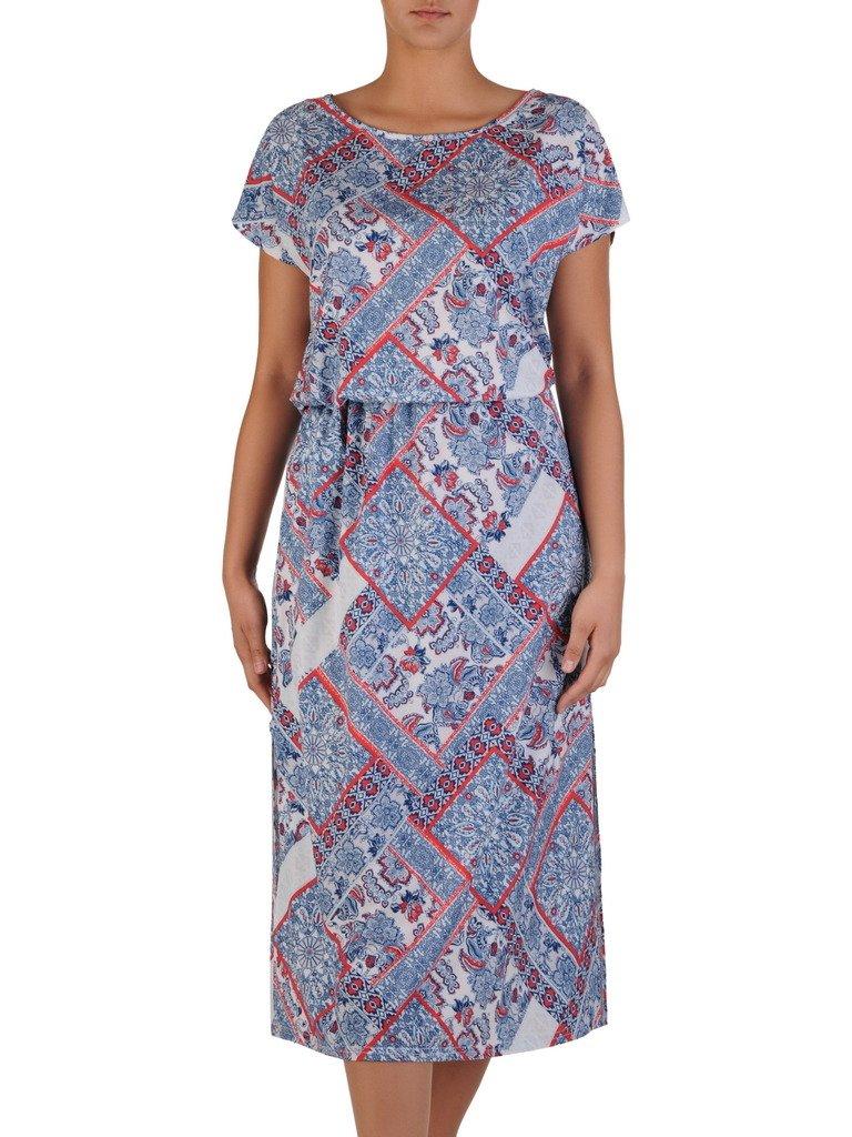 d0c24d70 Luźna sukienka z gumką w talii 17191, modna kreacja na lato. | Sklep ...