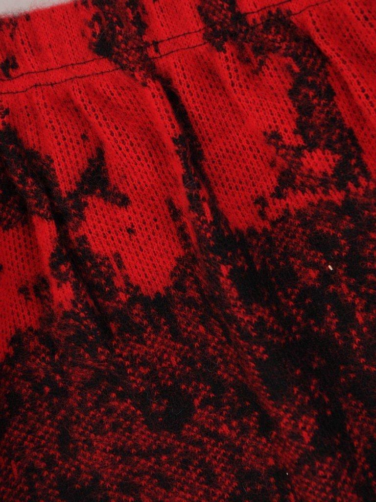 Marszczona spódnica z abstrakcyjnym nadrukiem Karina I.