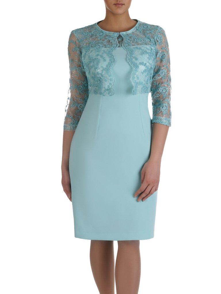 cd51325e0f Miętowa sukienka z krótkim
